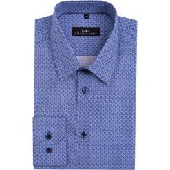 Koszula MARCO KMNS000022. Niebieskie koszule męskie na spinki marki bonprix, m, z nadrukiem, z klasycznym kołnierzykiem, z długim rękawem. Za 259,00 zł.