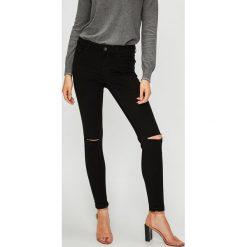 Vero Moda - Jeansy. Czarne jeansy damskie rurki marki Vero Moda, z bawełny. Za 149,90 zł.