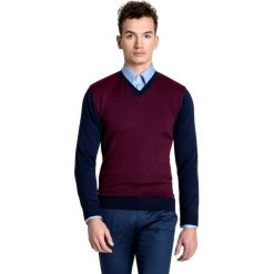 Sweter GREGORIO SWG000044. Czarne swetry klasyczne męskie Giacomo Conti, m, w geometryczne wzory, z tkaniny. Za 259,00 zł.
