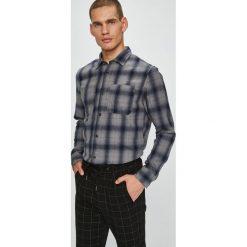 Jack & Jones - Koszula. Czarne koszule męskie na spinki Jack & Jones, l, w kratkę, z bawełny, z włoskim kołnierzykiem, z długim rękawem. W wyprzedaży za 139,90 zł.