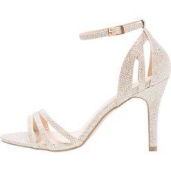 Paradox London Pink MELODY Sandały na obcasie gold glitter. Białe sandały damskie marki Paradox London Pink, z materiału. Za 349,00 zł.