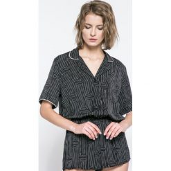 Dkny - Kombinezon piżamowy. Czarne body i gorsety marki DKNY, l, z poliesteru, z krótkim rękawem, krótkie. W wyprzedaży za 139,90 zł.