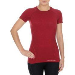 Bluzki sportowe damskie: Brubeck Koszulka damska z krótkim rękawem Active Wool bordowa r. M (SS11700)