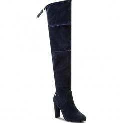 Muszkieterki BIG STAR - Y274226 Navy. Niebieskie buty zimowe damskie BIG STAR, z materiału, na obcasie. W wyprzedaży za 199,00 zł.