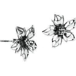 Wild Flower Kolczyki - Earpin standard. Szare kolczyki damskie Wild Flower, srebrne. Za 42,90 zł.