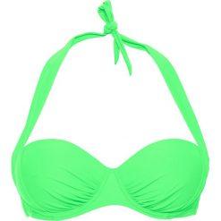 Stroje kąpielowe damskie: Biustonosz bikini na fiszbinach bonprix zielony miętowy