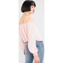 Bluzki asymetryczne: Hollister Co. CINCHED HEM  Bluzka pink