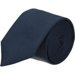 Krawaty męskie: krawat platinum granatowy classic 215