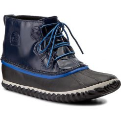 Botki SOREL - Out N About Rain NL2511 Collegiate Navy 464. Niebieskie buty zimowe damskie Sorel, z gumy. W wyprzedaży za 309,00 zł.
