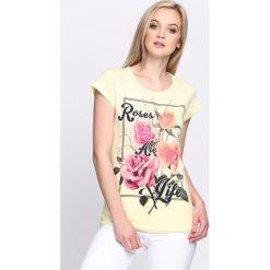Bluzki, topy, tuniki: Żółty T-shirt True Rose