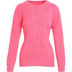 Koralowy Sweter Reveal of My Heart. Pomarańczowe swetry klasyczne damskie marki Born2be, l, z okrągłym kołnierzem. Za 59,99 zł.