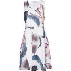 Sukienki: Sukienka z nadrukiem bonprix biel wełny w kwiaty