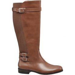 Kozaki damskie Graceland brązowe. Czarne buty zimowe damskie marki Graceland, w kolorowe wzory, z materiału. Za 159,90 zł.