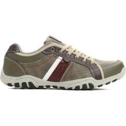 Buty sportowe męskie: Ciemnobeżowe Buty Sportowe Say Woow