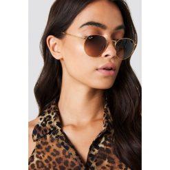 Ray-Ban Okulary przeciwsłoneczne Metal Round 1 - Brown. Brązowe okulary przeciwsłoneczne damskie aviatory Ray-Ban, okrągłe. Za 688,95 zł.