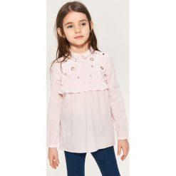 Bluzki dziewczęce: Bluzka koszulowa - Różowy