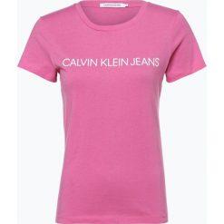 Calvin Klein Jeans - T-shirt damski, różowy. Czerwone t-shirty damskie Calvin Klein Jeans, s, z jeansu. Za 129,95 zł.