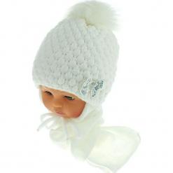 Czapka niemowlęca z szalikiem CZ+S 123A. Szare czapeczki niemowlęce Proman. Za 42,82 zł.