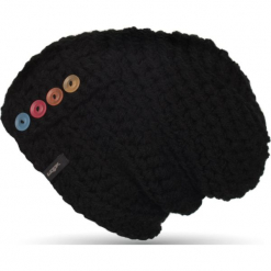 Czapka unisex Button Beanie czarna. Czarne czapki zimowe damskie Woox. Za 90,80 zł.