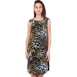 Długa sukienka z szyfonu we wzory BIALCON. Szare długie sukienki marki BIALCON, z materiału, wizytowe, z długim rękawem. W wyprzedaży za 170,00 zł.