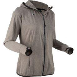 Bluza funkcyjna treningowa, rozpinana, długi rękaw bonprix szary melanż. Szare bluzy rozpinane damskie bonprix, s, melanż, z długim rękawem, długie. Za 59,99 zł.