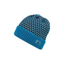 Czapki męskie: Adidas Czapka męska Climaheat Striped Knit Woolie niebieska (AY4914)