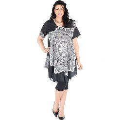 Sukienki: Sukienka w kolorze biało-czarnym
