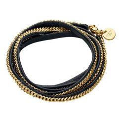 Bransoletki damskie na nogę: Bransoletka w kolorze złoto-czarnym