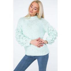 Sweter z półgolfem miętowy MISC4150. Zielone swetry klasyczne damskie Fasardi. Za 149,00 zł.