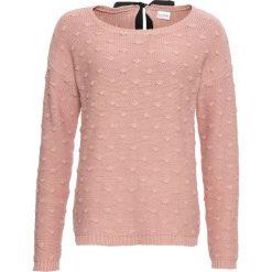 Sweter z kokardą bonprix stary jasnoróżowy. Czerwone swetry klasyczne damskie marki bonprix, z kokardą. Za 79,99 zł.