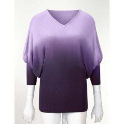 Swetry klasyczne damskie: Sweter dzianinowy bonprix lila
