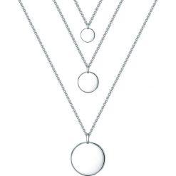 Biżuteria i zegarki: Posrebrzany naszyjnik z zawieszką – dł. 91 cm