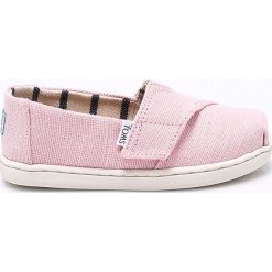Toms - Tenisówki dziecięce. Szare buty sportowe dziewczęce Toms, z gumy, z okrągłym noskiem. Za 149,90 zł.