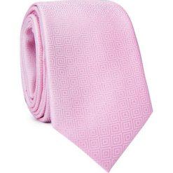 Krawat KWRR001554. Różowe krawaty męskie marki Reserved. Za 69,00 zł.