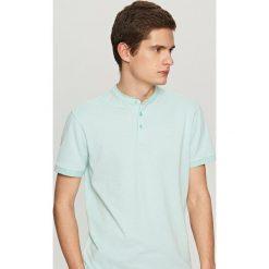 Koszulki polo: Koszulka polo ze stójką – Zielony