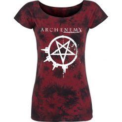 Arch Enemy Logo Koszulka damska bordowy. Czerwone bluzki z odkrytymi ramionami marki Arch Enemy, m, z nadrukiem, z okrągłym kołnierzem, z krótkim rękawem. Za 94,90 zł.