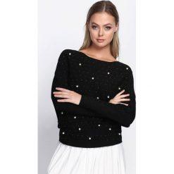 Czarny Sweter Misty Wind. Czarne swetry klasyczne damskie marki Born2be, m, z dzianiny, z okrągłym kołnierzem. Za 59,99 zł.