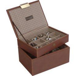 Zegarki męskie: Pudełko na spinki i zegarki Stackers karmelowe z kratką