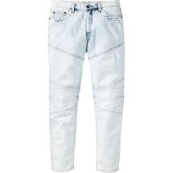 """Dżinsy Loose Fit Tapered bonprix jasnoniebieski """"bleached used"""". Niebieskie jeansy męskie regular bonprix. Za 59,99 zł."""