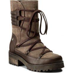 Kozaki EVA MINGE - Adora 2B 17MJ1372188EF 605. Brązowe buty zimowe damskie Eva Minge, ze skóry, przed kolano, na wysokim obcasie, na obcasie. W wyprzedaży za 299,00 zł.