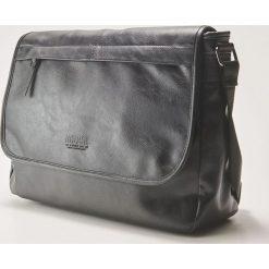 Torba na ramię - Czarny. Niebieskie torby na ramię męskie marki Kazar, w paski, ze skóry, przez ramię, zdobione. Za 89,99 zł.
