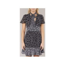 Sukienki krótkie MICHAEL Michael Kors  STAR MIX DRESS. Czarne sukienki hiszpanki MICHAEL Michael Kors, l, retro, z krótkim rękawem, mini. Za 799,20 zł.