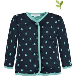 Dwustronna bluza w kolorze granatowo-turkusowym. Niebieskie bluzy chłopięce marki bellybutton, z bawełny. W wyprzedaży za 62,95 zł.