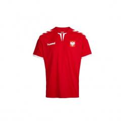 Koszulka Polska. Białe t-shirty damskie marki Hummel, s, z materiału. W wyprzedaży za 79,99 zł.
