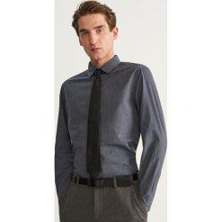 Bawełniana koszula slim fit - Szary. Szare koszule męskie slim marki House, l, z bawełny. Za 69,99 zł.