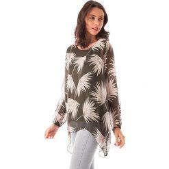 Bluzki asymetryczne: Koszulka w kolorze khaki