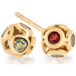 Kolczyki damskie: Unikalne Złote Kolczyki – złoto żółte 333, Topaz…