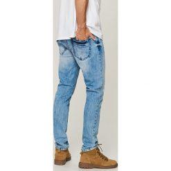 Jeansy slim fit - Niebieski. Niebieskie jeansy damskie relaxed fit Reserved. Za 149,99 zł.