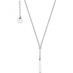 Srebrny naszyjnik z zawieszką - (D)40 cm. Szare naszyjniki damskie YES, srebrne. W wyprzedaży za 79,95 zł.