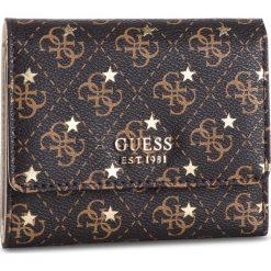 Duży Portfel Damski GUESS - SWSM71 79430 BRO. Brązowe portfele damskie marki Guess, z aplikacjami, ze skóry ekologicznej. Za 259,00 zł.